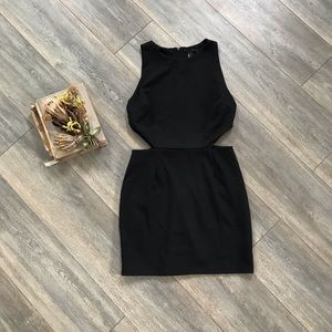 Forever 21 Black Bodycon Cut Out Dress L goth